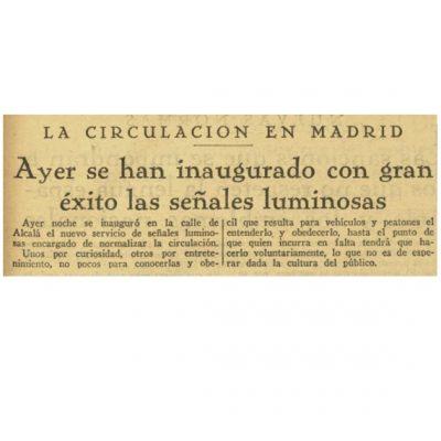 Titular y breve nota en el diario La Nación del 18 de marzo de 1926
