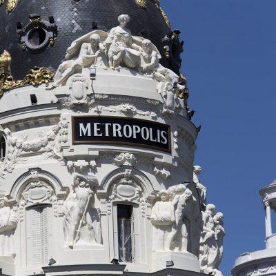Escultura Mariano Benlliure Edificio Metrópolis