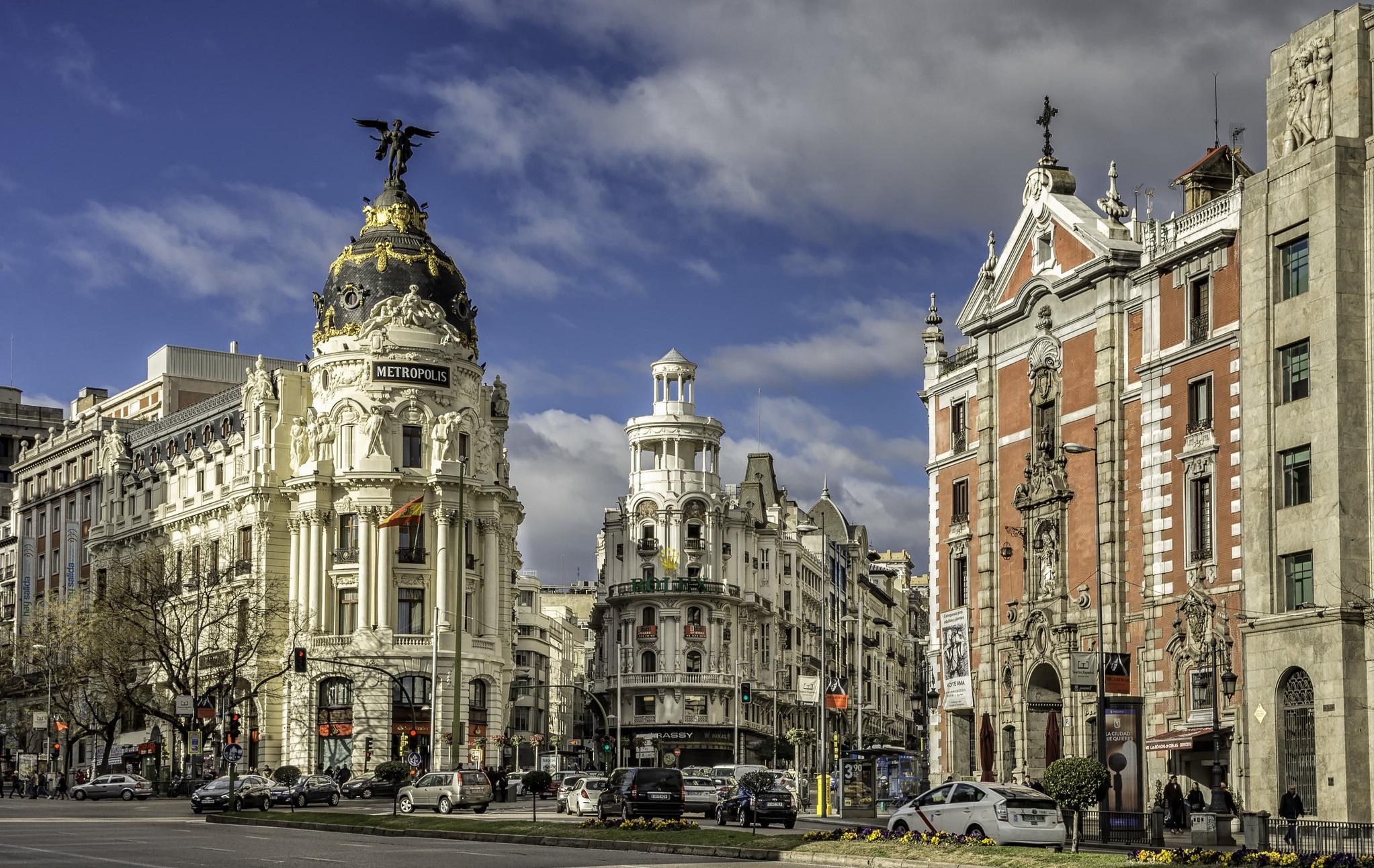 El edificio Metrópolis. Una de las imágenes más conocidas de Madrid