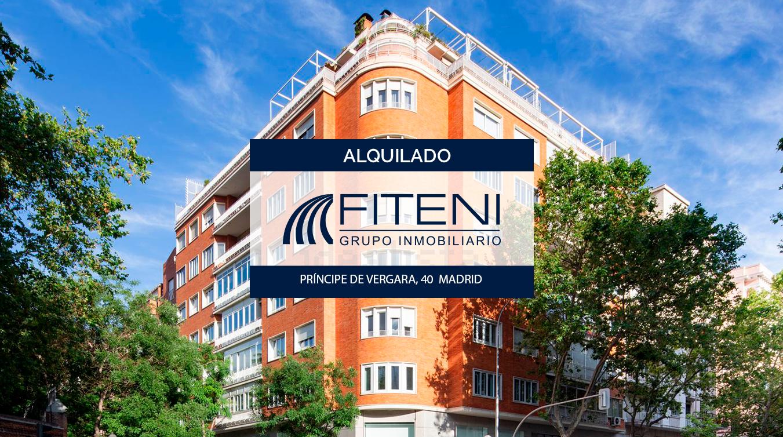 Alquiler Príncipe de Verga 40 Madrid Grupo Fiteni